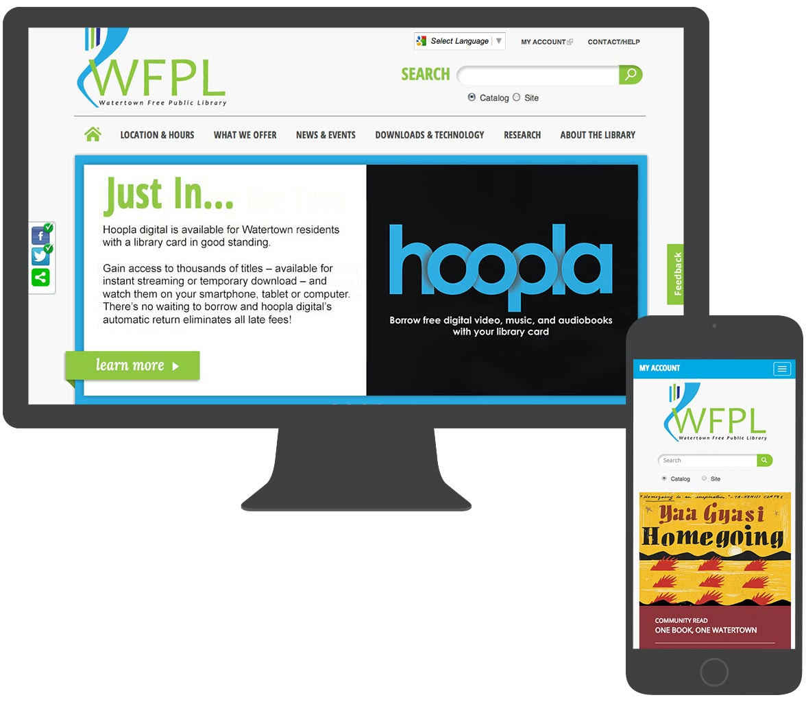 Designing a library website for the 21st Century | MA Drupal