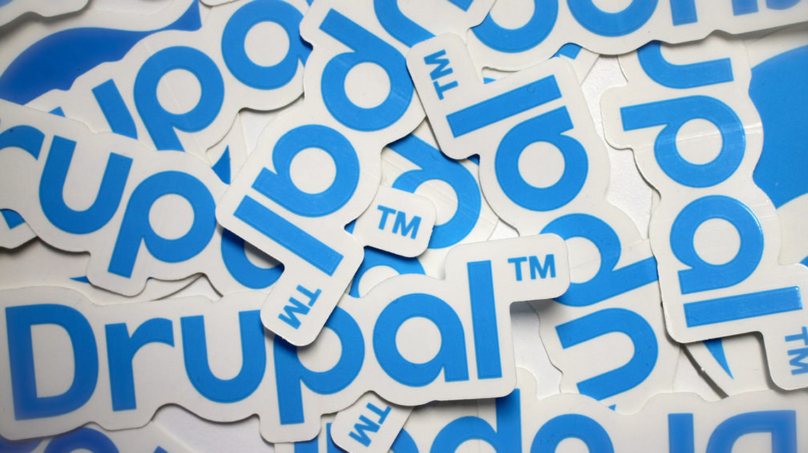 Pile of Drupal stickers