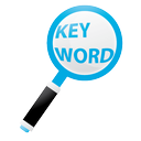 Magnifying glass representing choosing the right keyword for blogging
