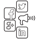 social media icons representing influencer marketin