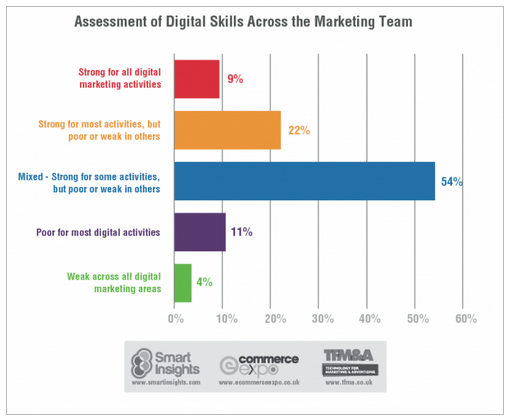 Assessment of Digital Skills Across the Marketing Team