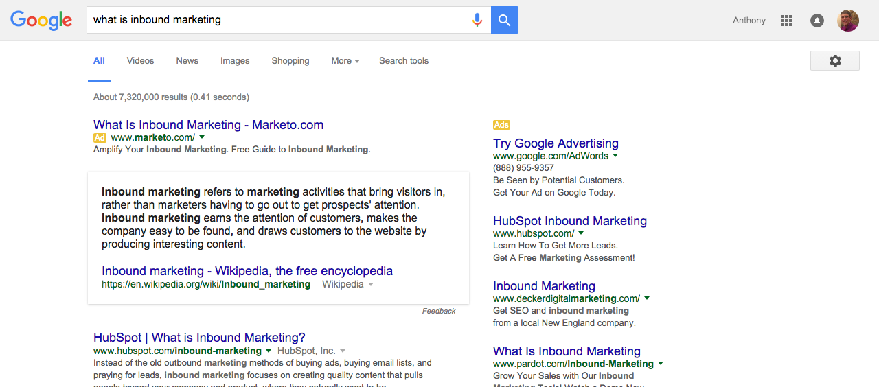 What is Inbound Marketing? Google Search