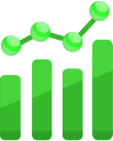 Icon for marketing strategy charts