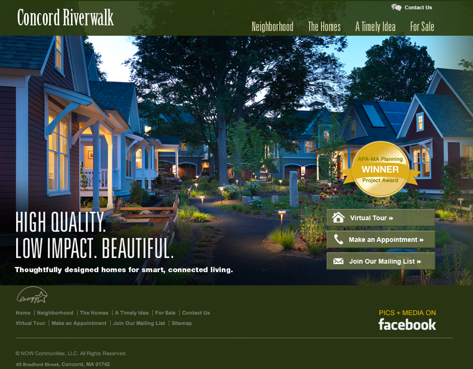 Concord Riverwalk homepage