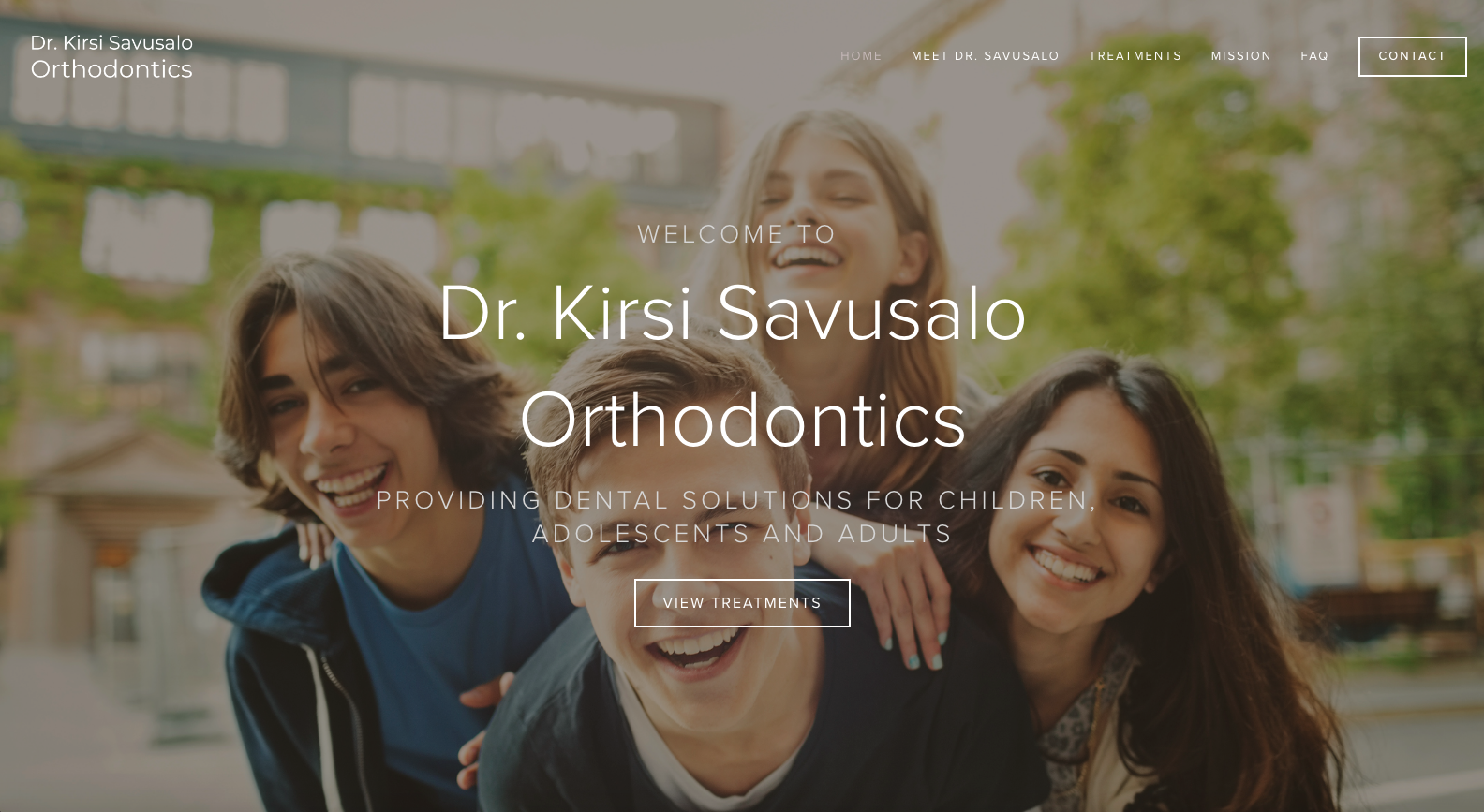 Squarespace web design for orthodontics